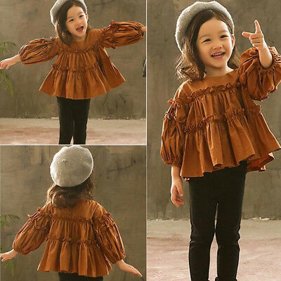 bcdf27a17538 US Stock Toddler Baby Girls Ruffle Sleeve Top Clothes+ Pants Leggings  Outfit Set
