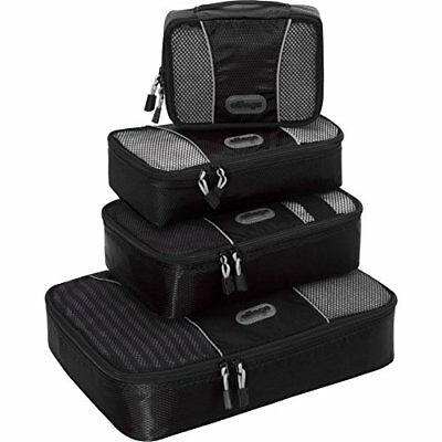 eBags Packing Cubes - 4pc SmallMed Set Black