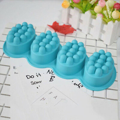 4 in 1 Cavity Massage Bar Silicone Mold DIY Fondant Soap Mousse Mould Tray