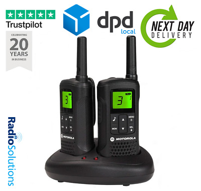 Motorola Walkie Talkie  T60 2-Way Radio Licence Free PMR446 - Twin Pack