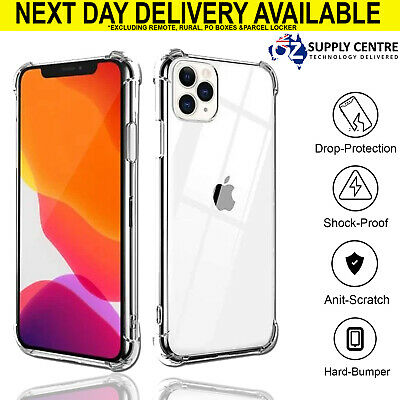 IPhone 11 pro max XS XR X Shockproof Slim Silicone Crystal Clear Case Bumper TPU