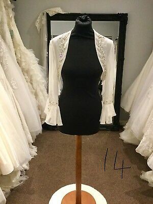 Size 14 Ronald Joyce Ivory Wedding Jacket/bolero