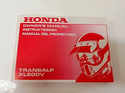 manual uso manutenzione use maintenance Multilingua HONDA XL 600 V TRANSALP