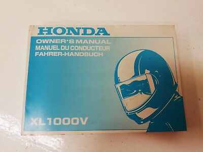 Manual uso manutenzione use maintenance Multilingua HONDA XL 1000 V VARADERO