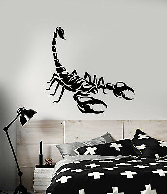 """Tribal Scorpion Scorpio removable Wall Vinyl Decal 22x23/"""" color choices"""