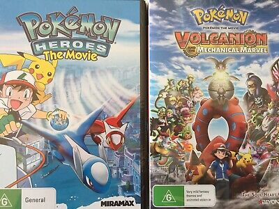 2 x POKEMON MOVIES - Heroes & Volvanion And The Mechanical Marvel DVD AS NEW!