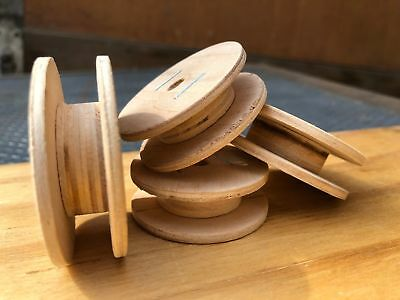 Empty wooden spool for wire Kabel Nihrome, Nickel/Chrome, Spring dia 0.01-0.25mm
