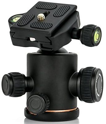 allimity Tripod Ball Head with Quick Release Plate for Tripod Monopod Slider DSL