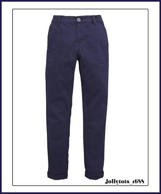 Boys Quality Stretch Super Skinny Chinos in Navy Blue Size 8 Years RRP £19