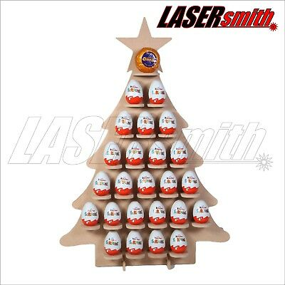 Christmas Tree Advent Calendar for Kinder Egg, Ferrero Rocher & Choc Orange