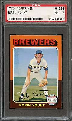 1975 Topps Mini #223 Robin Yount Psa 7 Rc Rookie Brewers Hof  *k1405