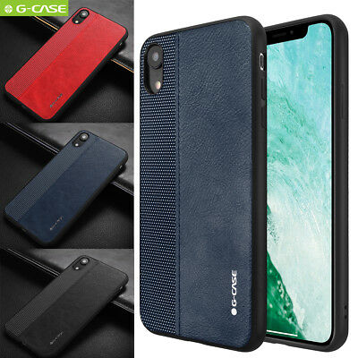 New iPhone Xs Max XR X Luxury G-Case Case Shockproof Rubber Leather TPU Cover