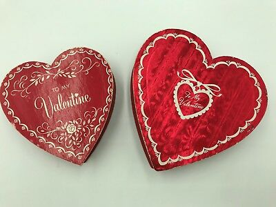 Two Vintage Valentine Heart Candy Boxes To My Valentine