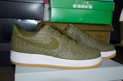 NIKE AIR FORCE 1 AF1 Low Militia Green Croc 8.5 Us - EUR 95 27d6358a8