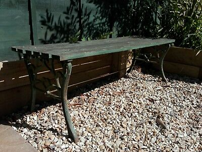 Cast iron Victorian garden bench vintage antique - North Somerset