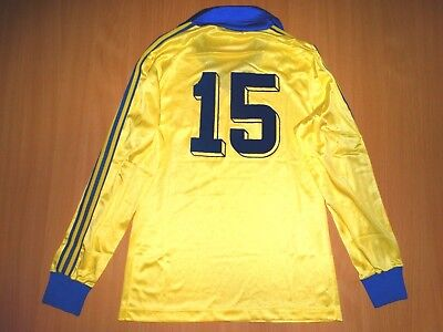 RARE S.K. BEVEREN  #15 MATCH WORN 1978 1979 shirt TRIKOT LONG 4/5 M FINAL adidas