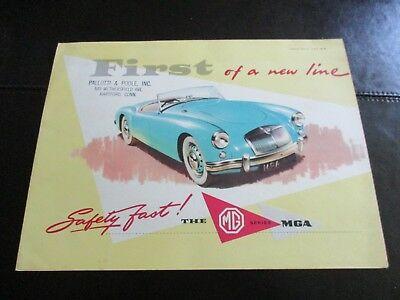1958 Mg Brochure - Safety First Series 1St Of A New Line - Near Mint Cond.