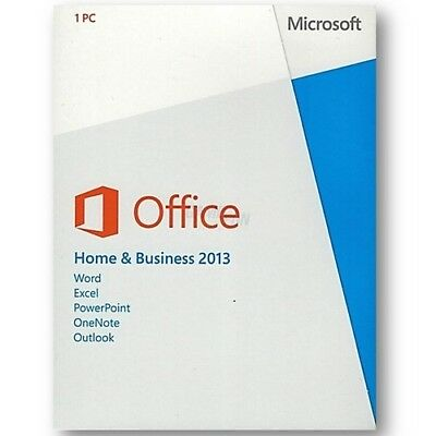 Microsoft Office 2013 Home and Business PKC Vollversion (Produkt Key Card)
