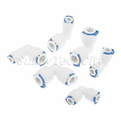 2pcs Elbow Reverse Osmosis RO Connectors Water Purifier Filters Pipe Fitting