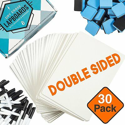 CleverCo Rigid Plain Write & Wipe 90 Piece A4 Whiteboards Class Kit