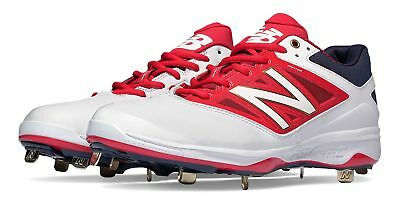 New Balance Men's Low-Cut 4040v3 Standout Pack Shoes White with Red & Navy
