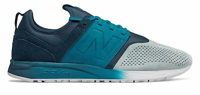 New Balance Men's Suede 247 Shoes Blue with Blue