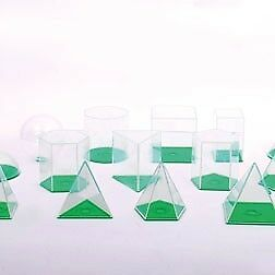 CleverCo Giant See Thru Geometric Shapes Set of 17
