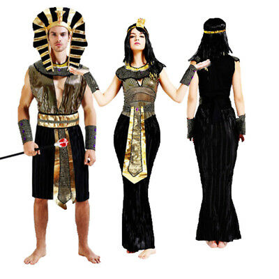 Adult Halloween Party Ancient Egypt Pharaoh Costumes Outfit Fancy Cosplay Unisex