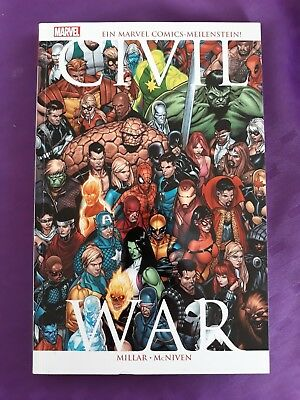 Civil War Paperback komplett Avengers, Fantastic Four...