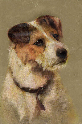 Wire Fox Terrier Portrait by Persis Kirmse 1920's LARGE New Blank Note Cards