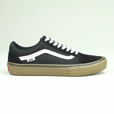 VANS OLD SKOOL Pro Trainers Shoes Black White Gum UK Sizes 4 d5ae4dc25