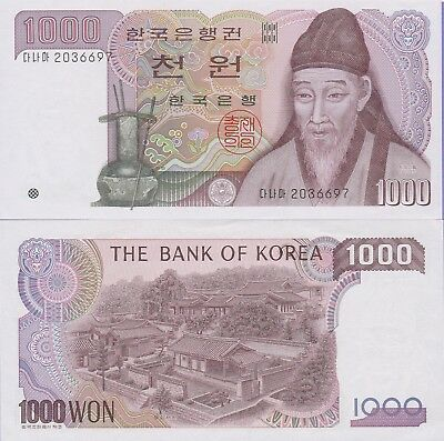 Korea-South 1000 Won Banknote,(1983) Choice About Uncirculated Cat#47-6697-654