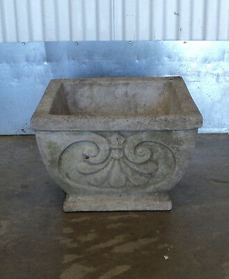 Antique French Neoclassical Concrete Outdoor Garden Planter