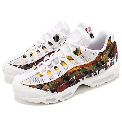 best authentic ca839 6643a Nike Air Max 95 ERDL Party White Multi-Color Camo Print NSW Sneakers AR4473-