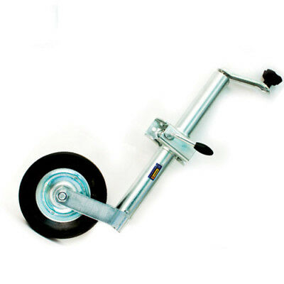 48Mm Jockey Wheel Telescopic Height Adjustable Wind Up Stand Camping With Clamp