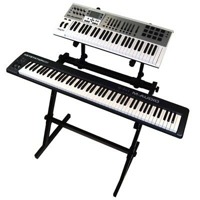 Gorilla GKS-500 Heavy Duty Two Tier Keyboard / Piano Stand Workstation Band Stud