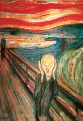 The Scream by Edvard Munch 24x36 Aprt Print Poster of Masterpiece The Cry and...