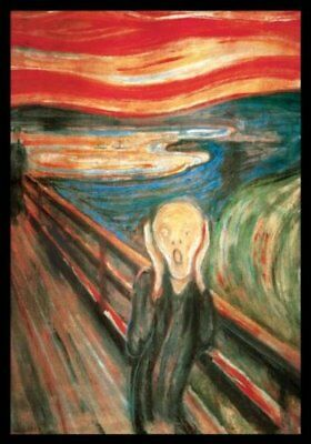FRAMED The Scream by Edvard Munch 24x36 Art Print Poster of Masterpiece