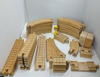 LOT OF THOMAS the Tank Engine Wooden Tracks Curved Straight Hills 39 ...