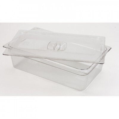 (1) - Rubbermaid Commercial Full-Size Cold Food Pan Cover, FG134P00CLR