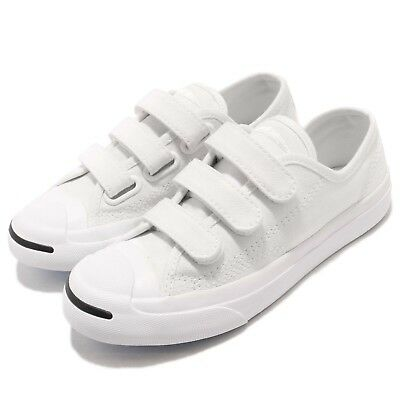 a00e2d4d Converse Jack Purcell 3V White Canvas Strap Kid Youth Casual Shoes 361308C