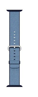 Apple Watch 38mm Navy/ Tahoe Blue Woven Nylon Band. Size 7.7 strap
