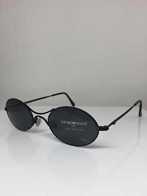 4d7eef339e0 Vintage Emporio Armani 044-S Sunglasses EA 044 Shiny Black C. 908 Made In