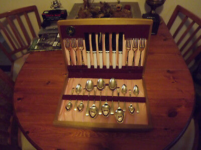 Vintage Melacraft 24pc A1 Silver Plate Canteen Cutlery Set