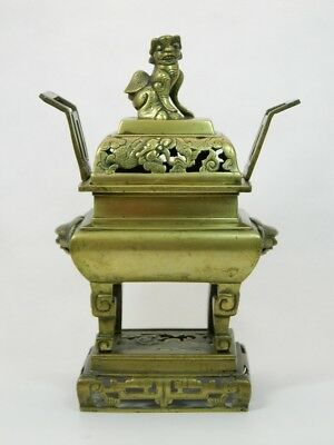 Weihrauchbrenner Messingbronze Räuchergefäß Censer Marke Xuande China um 1900