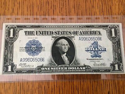 1 dollar banknote 1923 Blue Seal *Excellent Condition