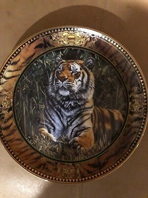 Franklin Mint Treasure Of The Tiger Porcelain  Plate by Anthony Gibbs limited ed