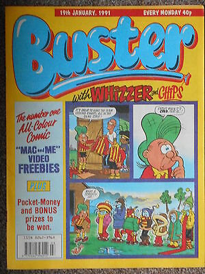 Buster with Whizzer & Chips Comic 19th January 1991