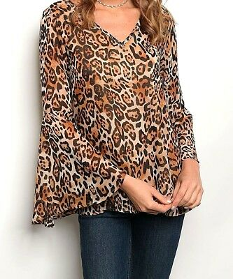 DESIGNER Sexy Women Leopard Tops Long Sleeve Casual Pullover Ladies HOT Blouse