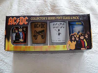 AC / DC AC/DC Collector's Series Pint Glass 4 Pack Classic Rock Holiday Gift